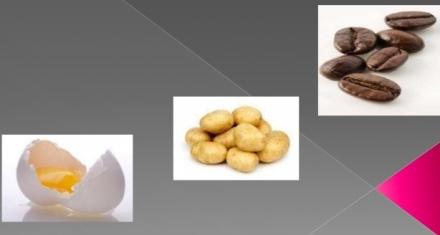 A burgonya, a tojás és a kávé